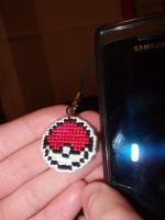 Pokeball phone charm by technoninjacus