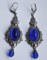 Blue Sapphire Earrings by Pinkabsinthe