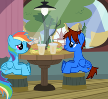 Cameron and Rainbow's Date by Eli-J-Brony