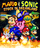Mario and Sonic Stuck in Dreamland Poster by jmkrebs30