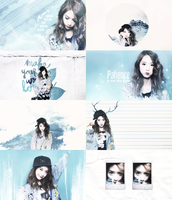 Yoona Graphic 2 ( Colormeme - blue) by Hwang-Jina