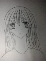 Anime Girl: Lineart by shadowrider-07