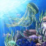 Jellyfish Environment by Izabeth