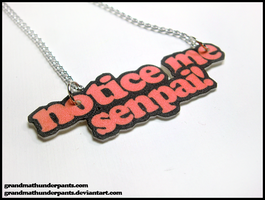 Notice me Senpai! Necklace by GrandmaThunderpants
