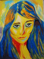 Fauvism: Self portrait by Melody68