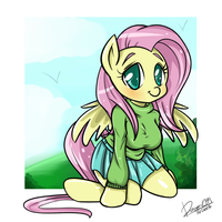 Fluttershy anthro by Doggie999