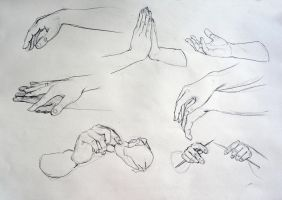 Hands study 1 by RaiAsInParadise