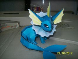 mini vaporeon papercraft by rafex17