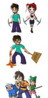 Minecraft: The Awakening - Chibis by TwilitAngel