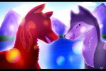 Rainbows in the Morning by Midnightshewolf