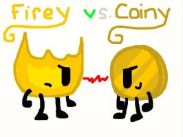 Rivals Firey and Coiny by FreesmarterAnne