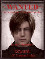 Leon S. Kennedy Wanted Poster by LordIceFox