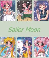Sailor Moon ACEOs by LuckyAngelausMexx