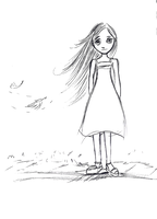 Girl in Wind by esmeone