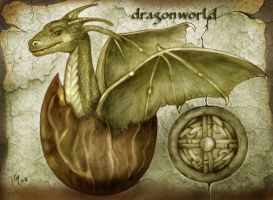 Dragon world - birth of the new dragon by crayonmaniac