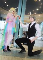 AT - Lady Rainicorn and Lord Monochromicorn by GreenTea-Cosplay