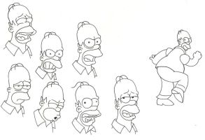 The Many Moods of Homer by greyfoxdie85