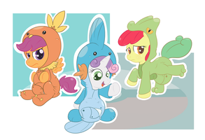 Cutie Mark Hoenn Starters by Hourglass-Sands