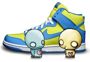 Pon and Zi with Nike Dunks by LikeAnIntrovert