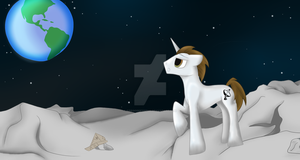 MLP Commission - Uplink Moon by firegoddess2148