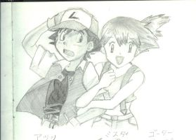 Ash and Misty by MegWhiteIII