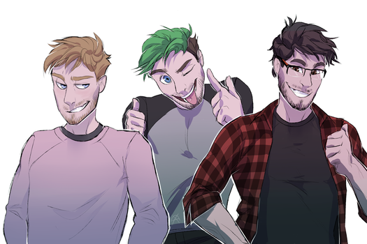 Felix, Sean and Mark by AshdogHateu