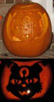 Umbreon Carving by FallenAngelSefra