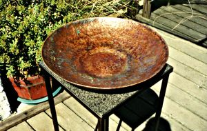 Hammered Copper Fruitbowl by ou8nrtist2