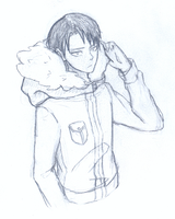 Levi in Winter Jacket Sketch by Mira-Vegas
