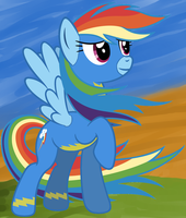Rainbow Dash As a Wonderbolt by Skyline98