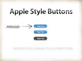 Apple buttons style - PSD by xatDefect