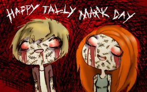 HAPPY TALLY MARK DAY by Dynneekx