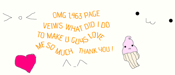 THANK U FOR 1,463 PAGE VEIWS by kagaminerin120
