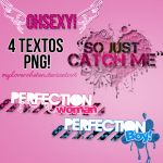 Pack de textos PNG. by MyloveRobsten