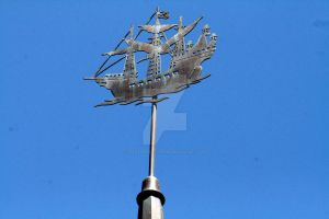 Close-up of Peter Pan's Weather Vane by Pabloramosart