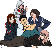 Commission: The Breakface Club by serenamidori