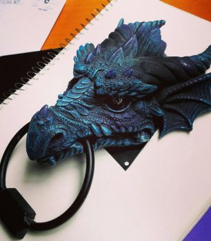 Dragon Doorknocker by Girl-Interrupted-9