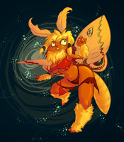 Moth Girl by Pokeaday