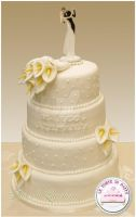 White wedding cake by Dyda81
