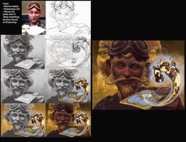 Hearthstone art tutorial by KrisCooper