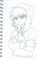 Christina in Her Hoodie by NightrunBlaze12