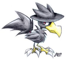 Murkrow by spookydoom