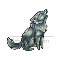 Grey Wolf Chibi by InsaneRoman