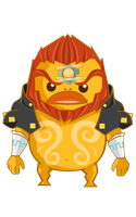 The legend of goron - ganon by BlueBubble-L