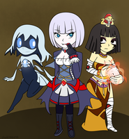 Hollow Art Contest: Ghost, Vampire and Mummy by Airyfellow