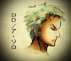 Drawing Zoro for my Friend by xXNami-sanXx