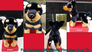 Fao Schwarz Miniature Pinscher Dog 7in by Vesperwolfy87