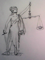 Goddess Of Pityless Justice by Cathematics