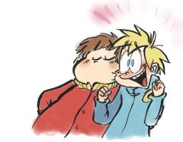 Talking with his Mouth Closed, Cartman x Butters by DNFanGirl4427
