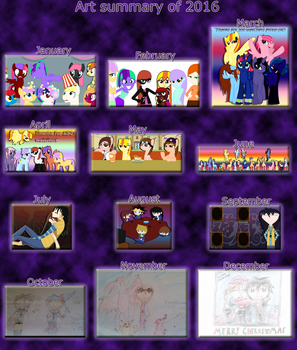Art summary of 2016! by Nefeloma21